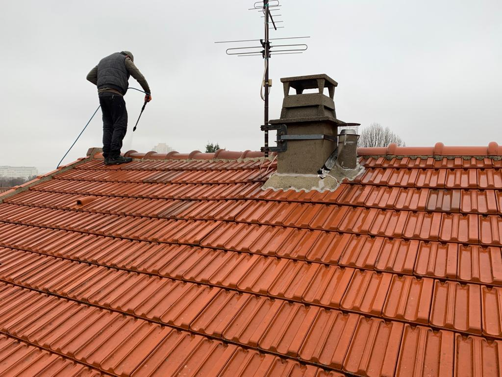 nettoyage d'un toit recouvert de mousse à Clamart (92)