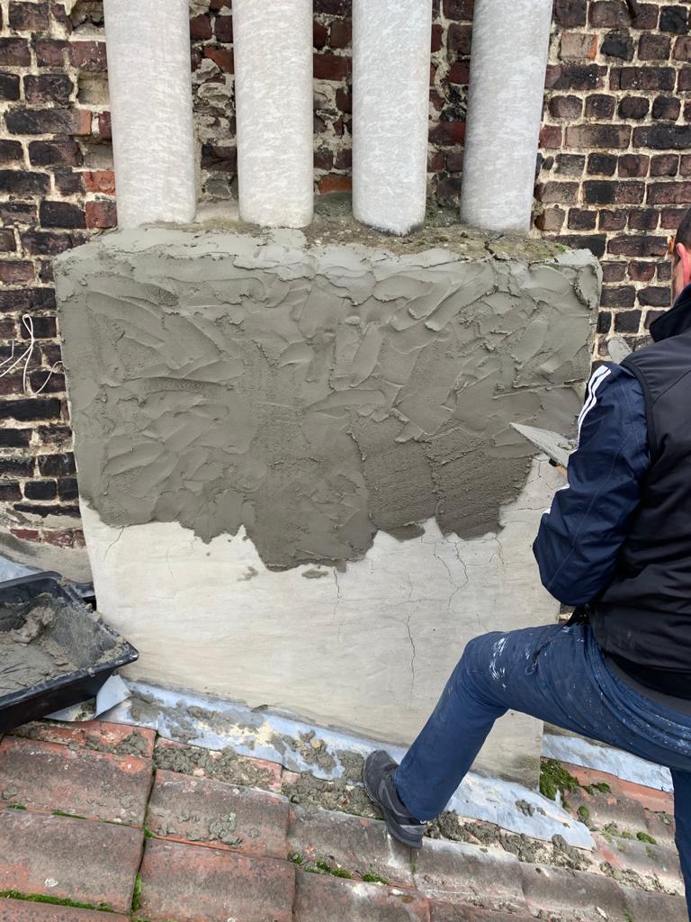 reprise de maçonnerie sur une cheminée